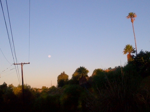 morning full moon over Southern California