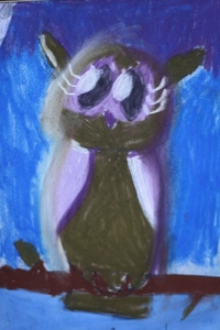 owl pastel