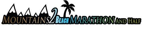 Mountains 2 Beach Marathon banner