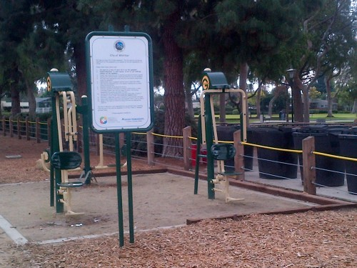 exercise equipment at Palm Park