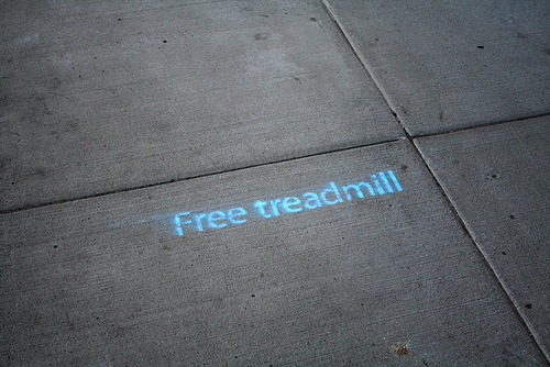 Spray paint on the sidewalk in St. Paul, Minnesota. Photo by Tony Walker.