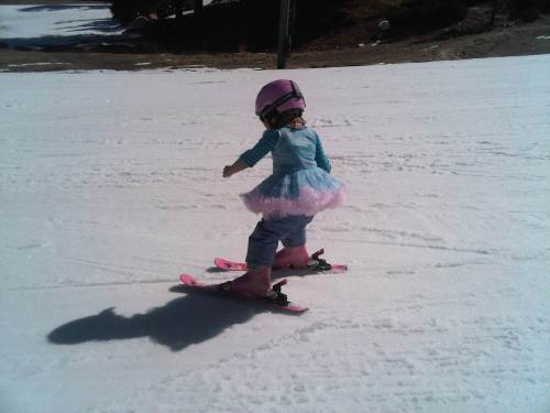 Ballerina Skier rocks the slopes!