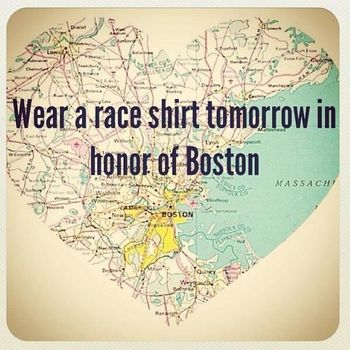 wear race shirt in honor of Boston