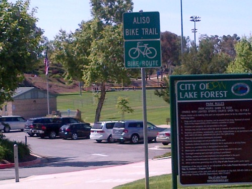 Aliso Creek Bike Trail in Lake Forest