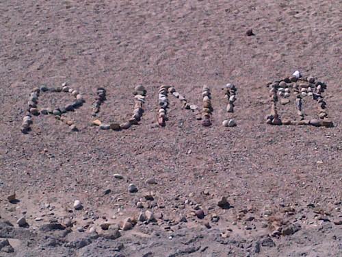River Rocks say Run!