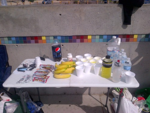 All the goodies at the aid station