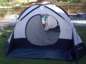 Campsite #1, poolside
