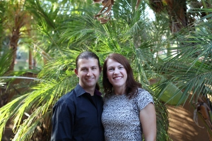 Mike and me all dolled up for a YMCA fundraiser