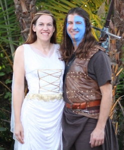 Isabella of France and Braveheart for Halloween