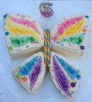 Butterfly birthday cake