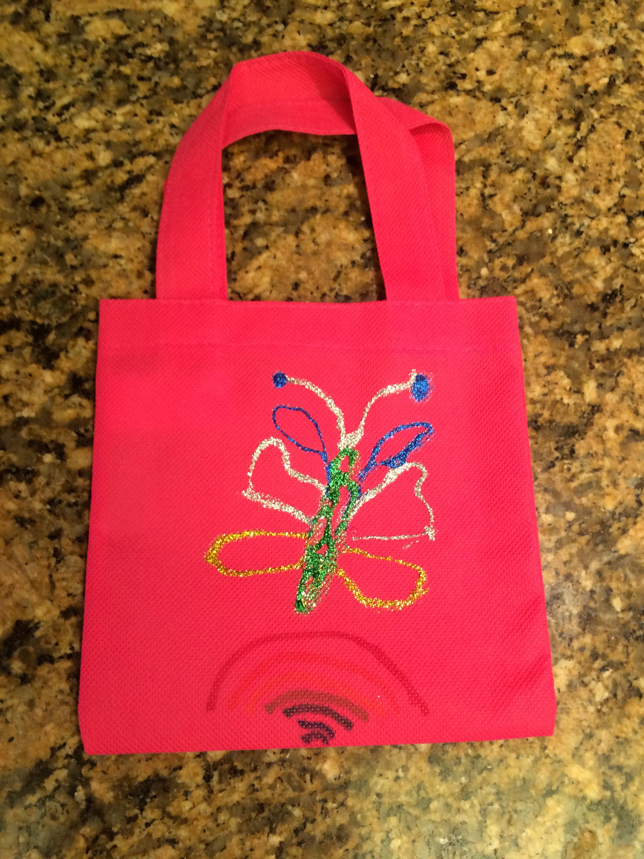 d2401b8a265c My 9-year-old stuck with the butterfly theme for her party favor bag