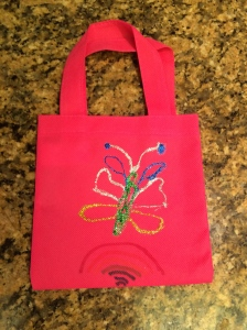 My 9-year-old stuck with the butterfly theme for her party favor bag.