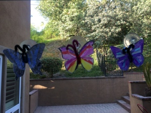 milk jug butterfly window craft