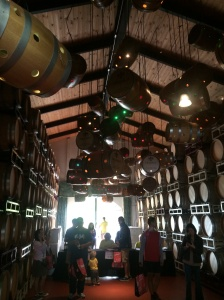 The barrel room at DeLoach Vineyards today at the expo.