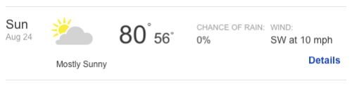 If this weather forecast holds, it will be in the high 50s and low 60s for the entire time I'm on the course.