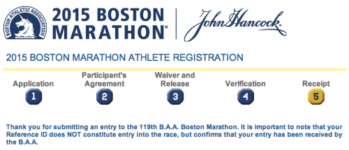 Boston Marathon application