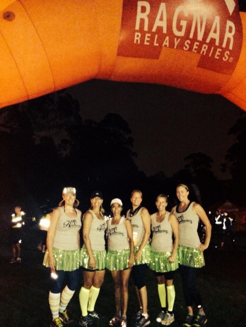 I love how the green sparkle skirts made it easy to spot our teammates, even in the dark!