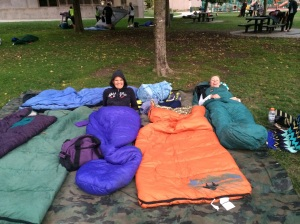 Such fun to camp out under the stars in perfect -- chilly but not too chilly - weather.