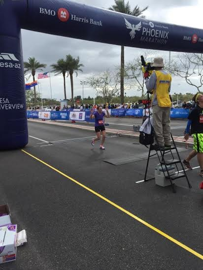 Phoenix Marathon finish line