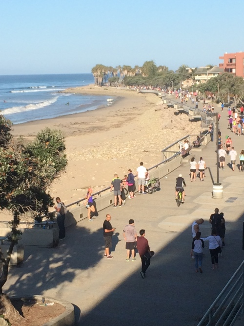 Part of the course runs along this promenade in Ventura