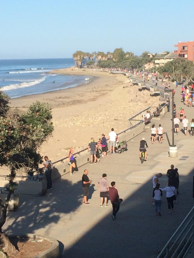 Part of the course runs along this promenade in Ventura