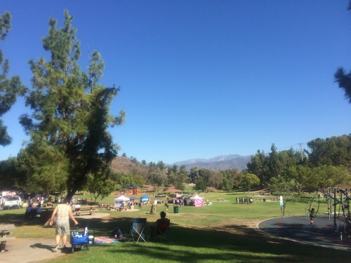 Not a bad place to spend a Sunday morning -- Bonelli Park in San Dimas, California