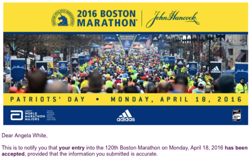 Boston Marathon acceptance