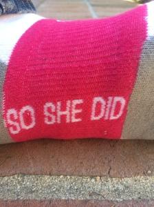 So She Did Socks