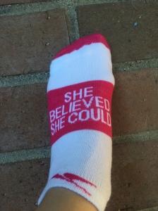 She Believed She Could Socks