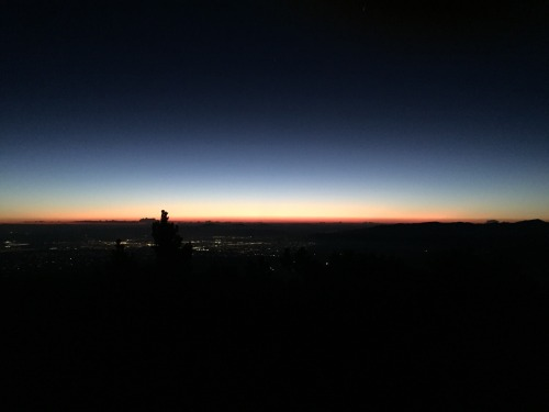 Pre-dawn on Mount Baldy summit