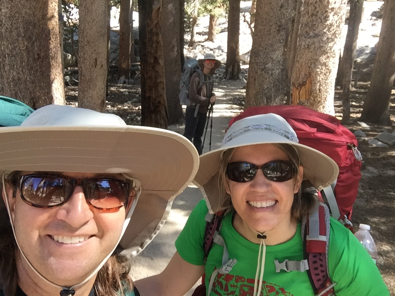 hikers on Mt. Whitney trail