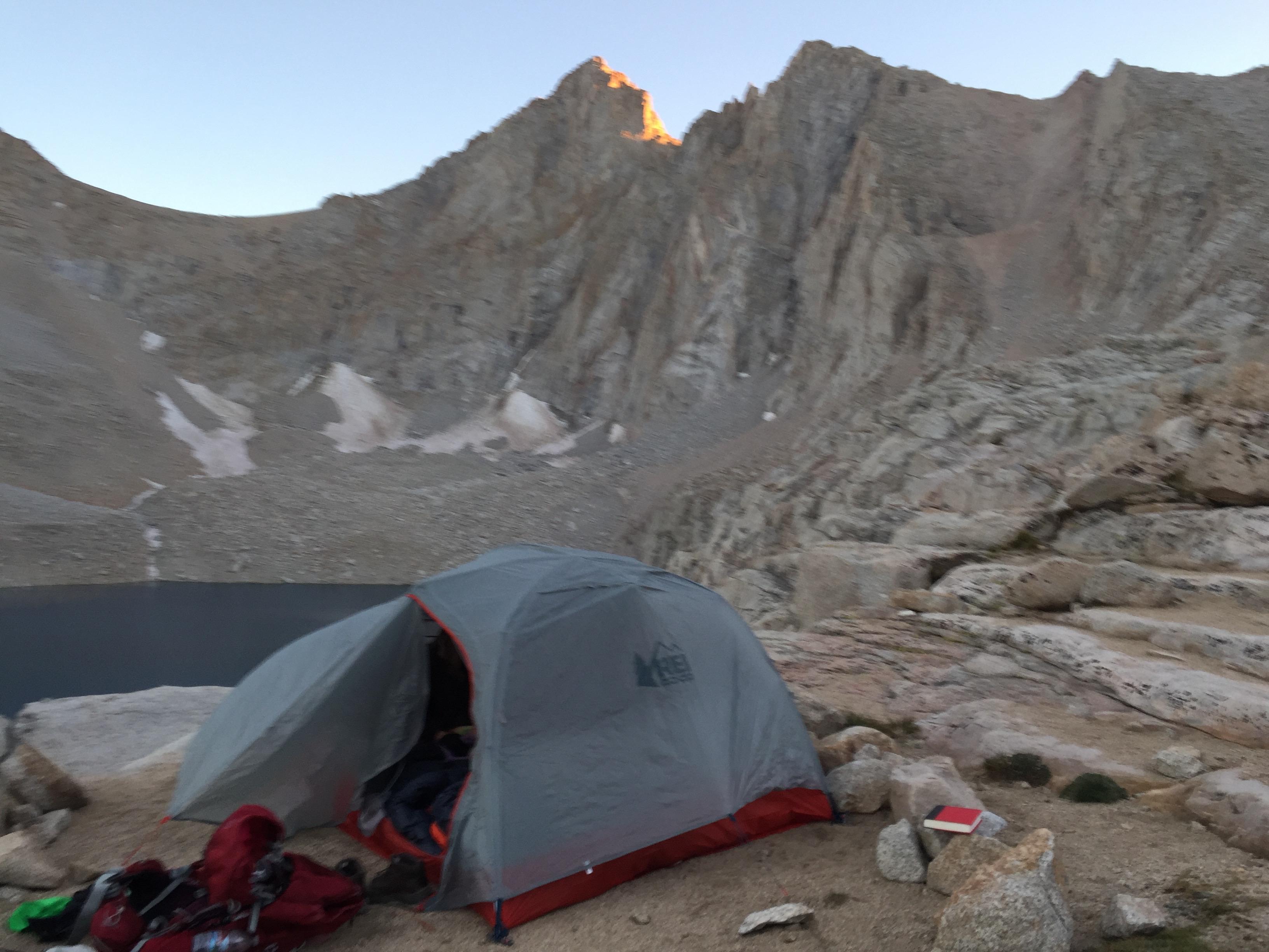 tent at Consultation Lake