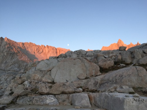 Moon set over Mt. Whitney range