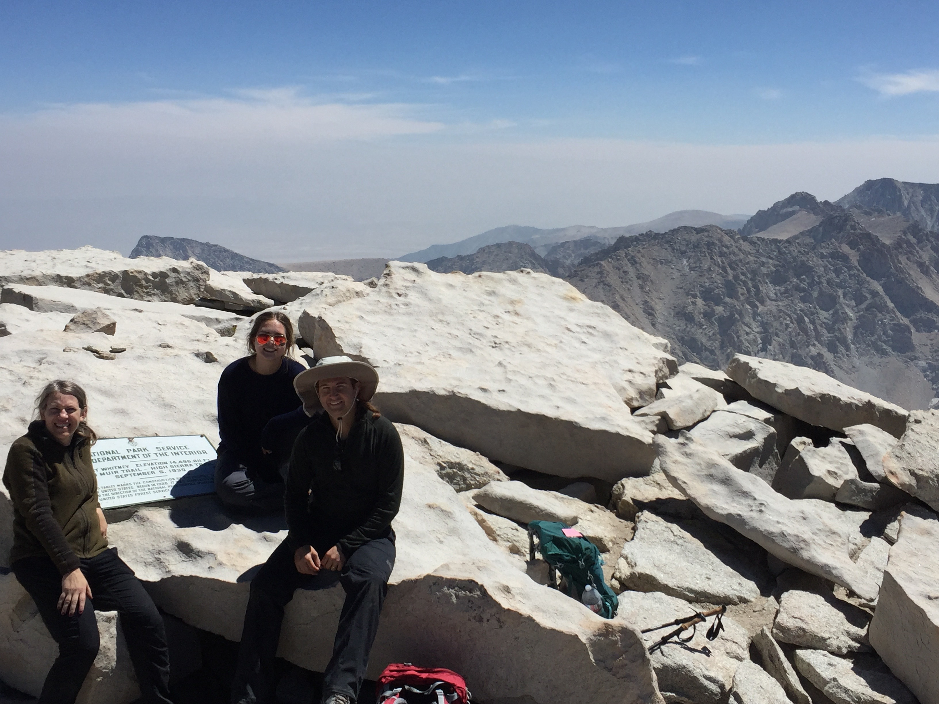 Mt. Whitney summit plaque