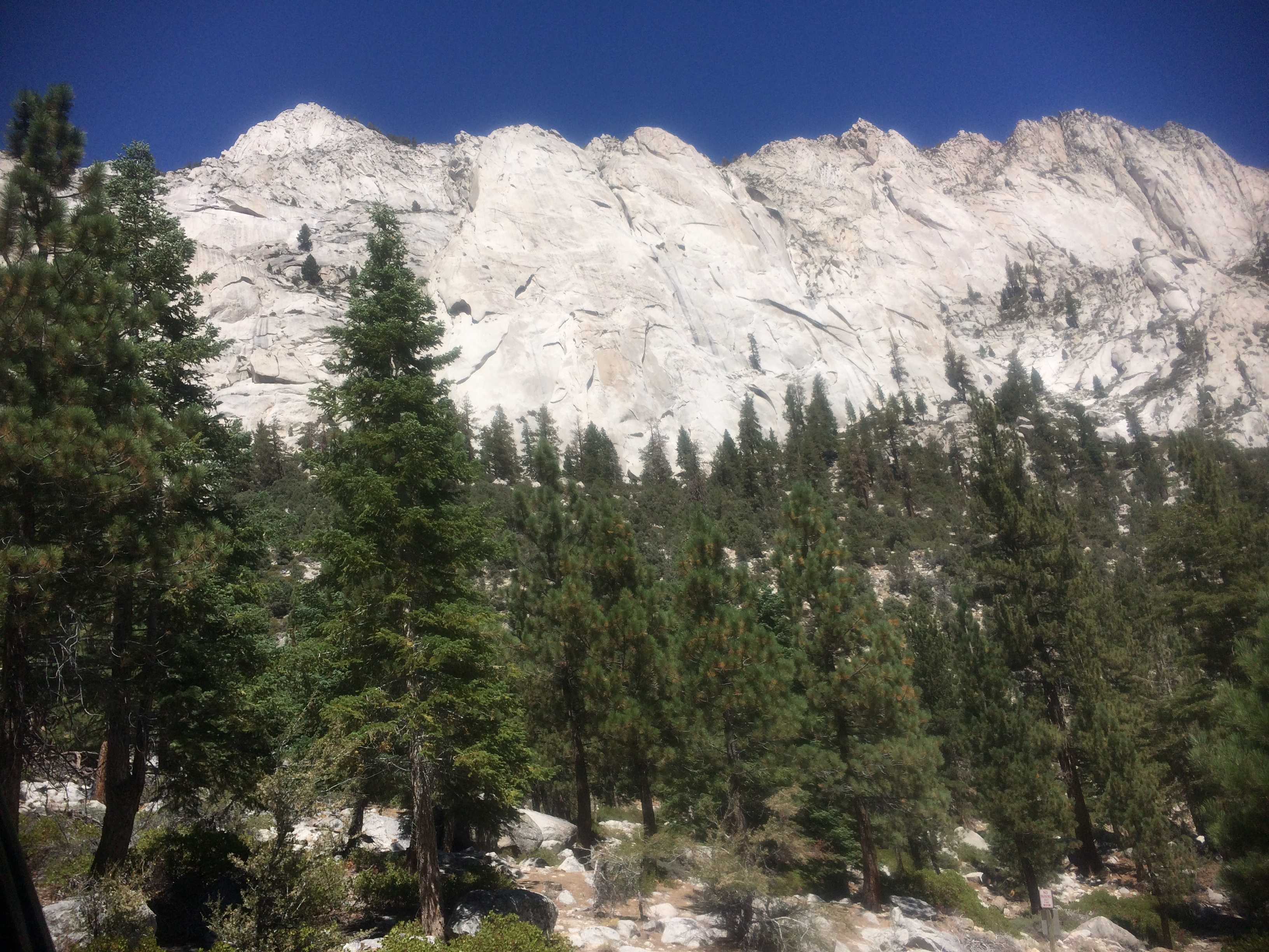 Mount Whitney view from parking lot
